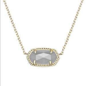 Kendra Scott Elisa Gold Necklace with Slate Stone
